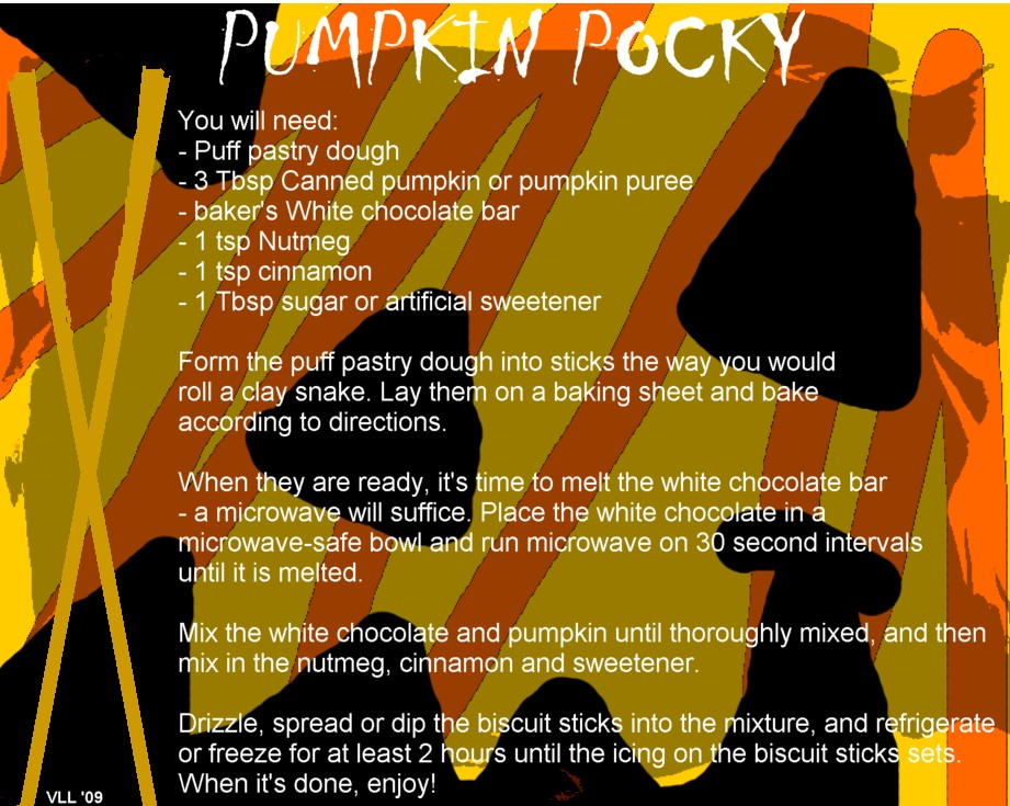 Pumpkin Pocky Recipe by UtterPsychosis