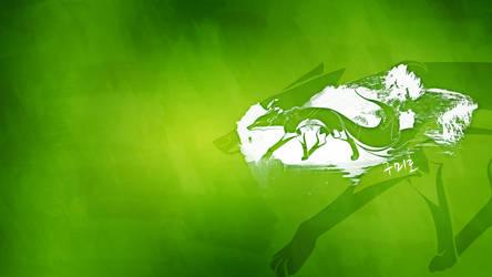 Green Kumiho Wallpaper by dunedhel