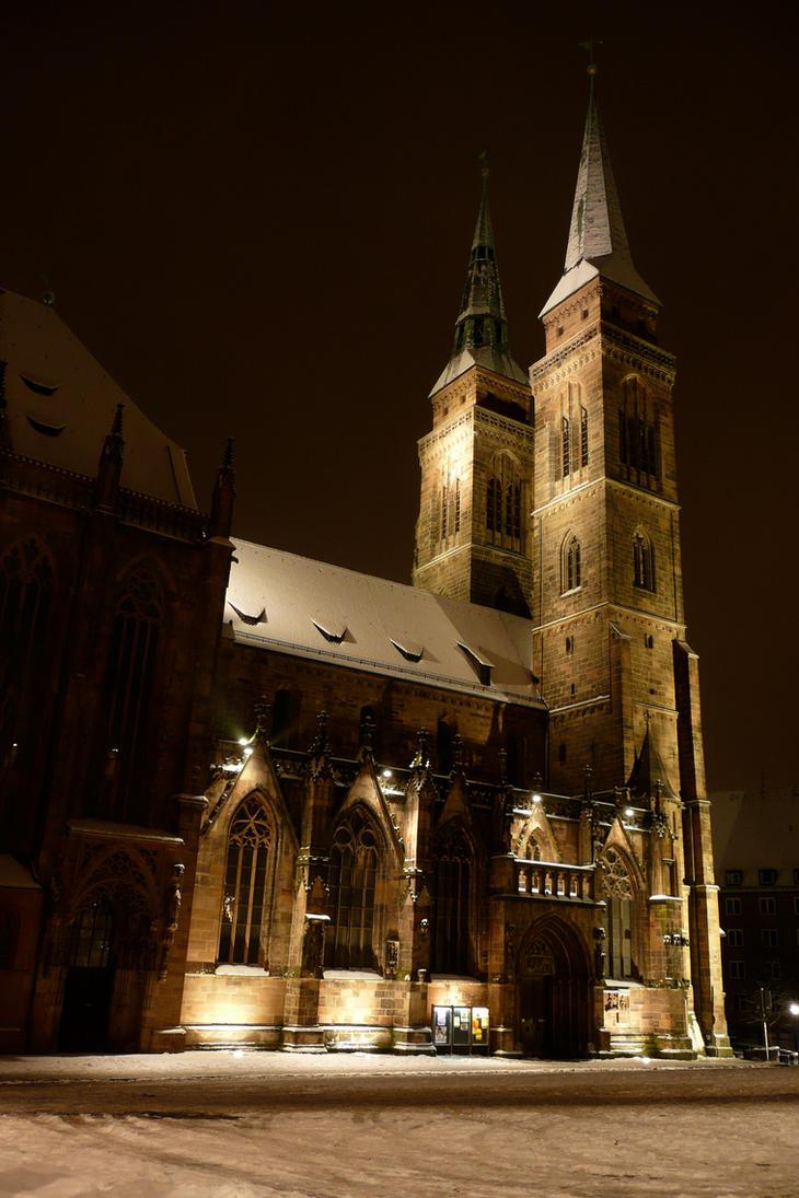 Snow on St. Sebald by Tali-esin