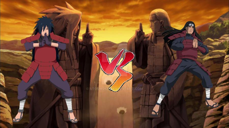 hashirama senju vs madara uchiha by storm2121 on deviantart