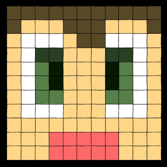 Pixel Face By Blazbaros On DeviantArt
