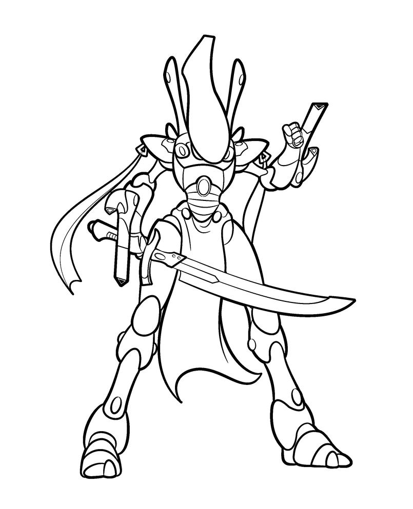 Wraithlord Lineart by Blazbaros