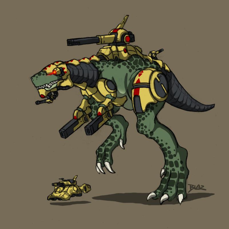 Xasheen Tankosaurus Rex by Blazbaros