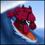 Even in death I still surf