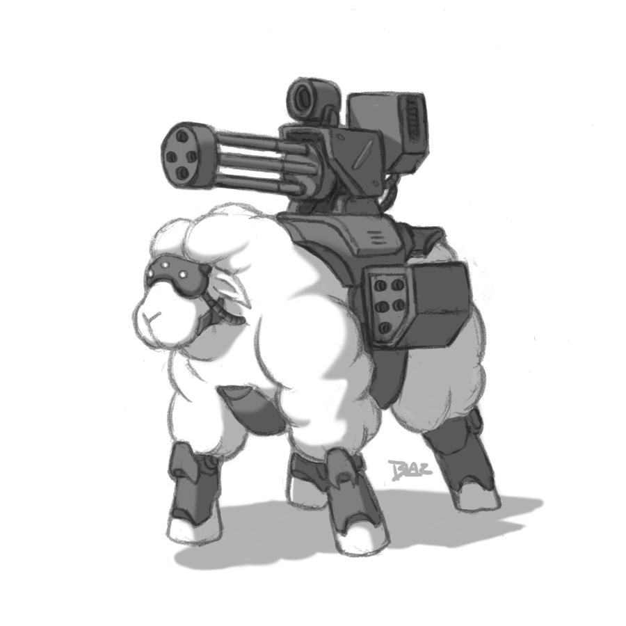 Cyborg Assualt Sheep by Blazbaros