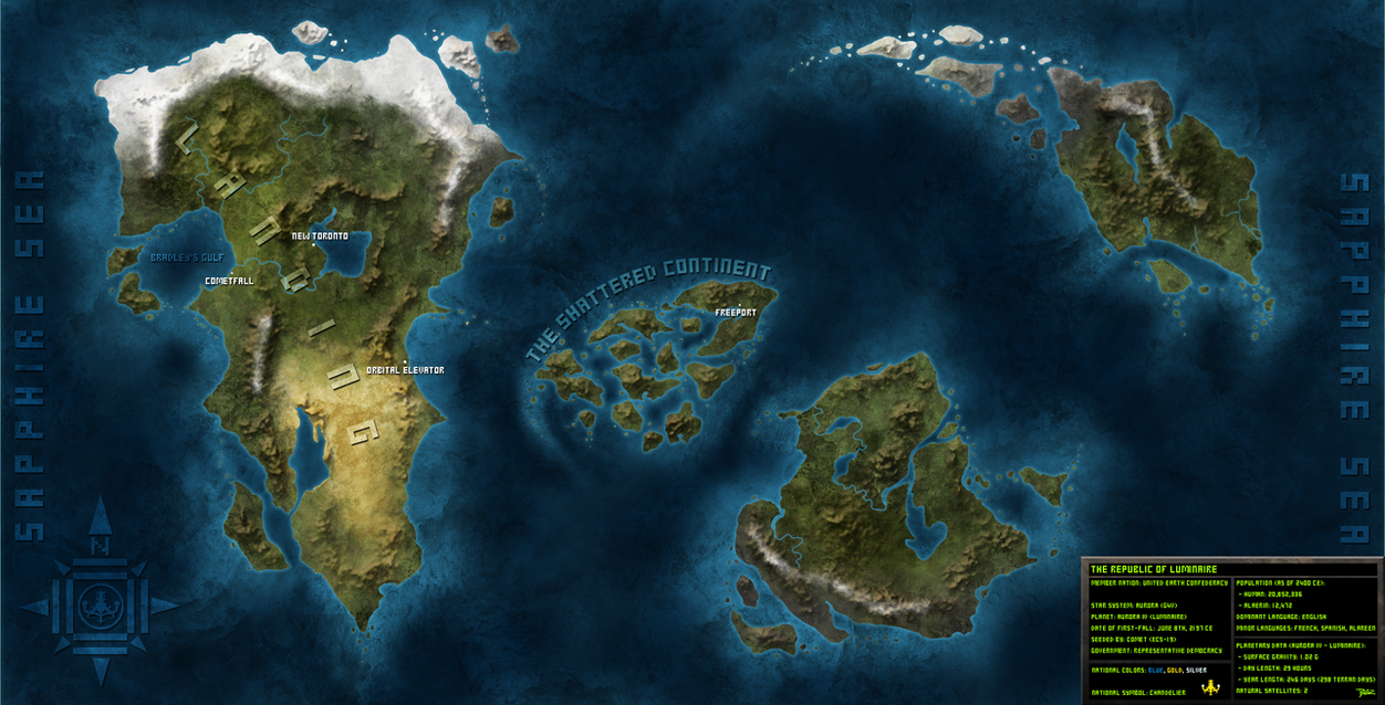 Luminaire World Map by Blazbaros on DeviantArt | 1250 x 638 jpeg 146kB