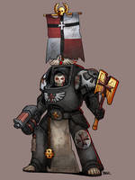 Black Templar Chaplain by Blazbaros