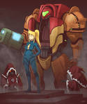 Inquisitor Samus Aran by Blazbaros