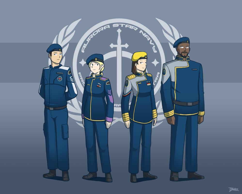 Aurora Star Navy of Luminaire by Blazbaros