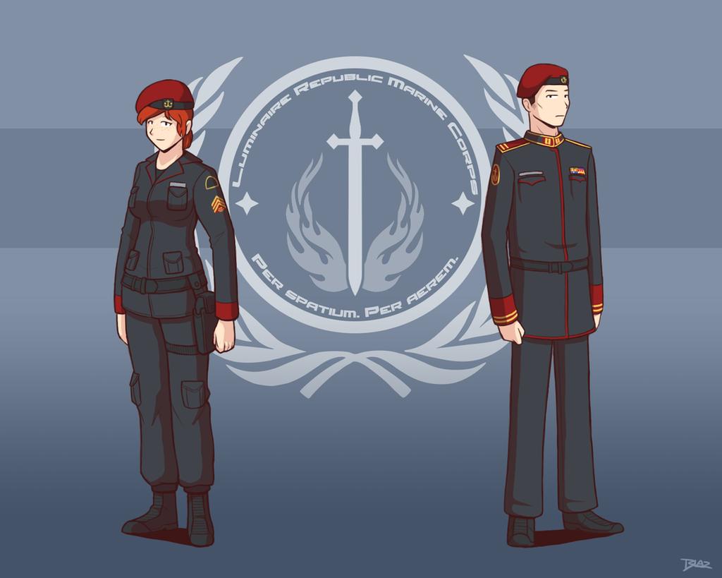Luminarie Republic Marine Corps by Blazbaros