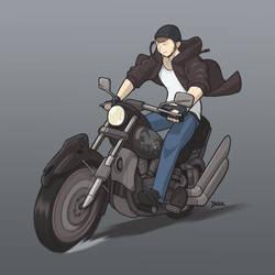 Sean's Ghost Bike by Blazbaros