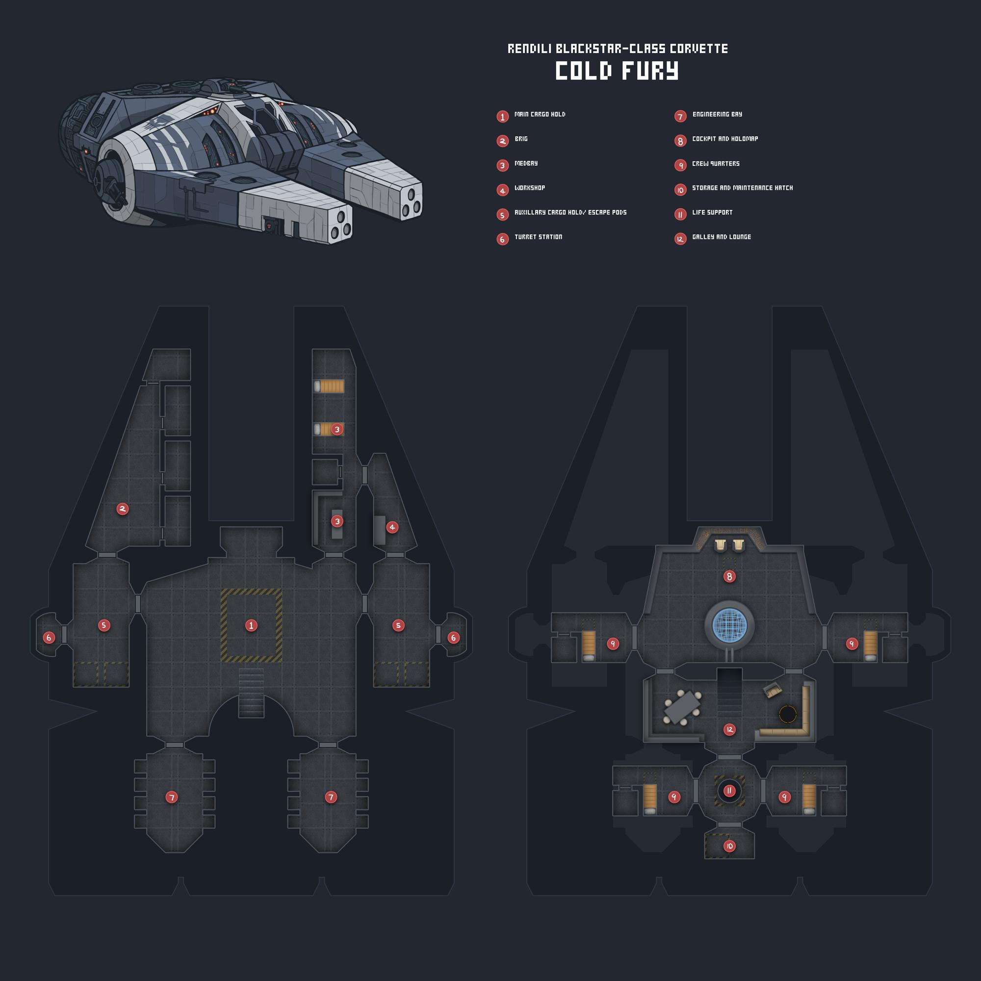 Star Wars Ship Floor Plans Part - 36: Cold Fury Deckplan By Blazbaros Cold Fury Deckplan By Blazbaros