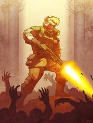 Jane Doe vs Zombies by Blazbaros
