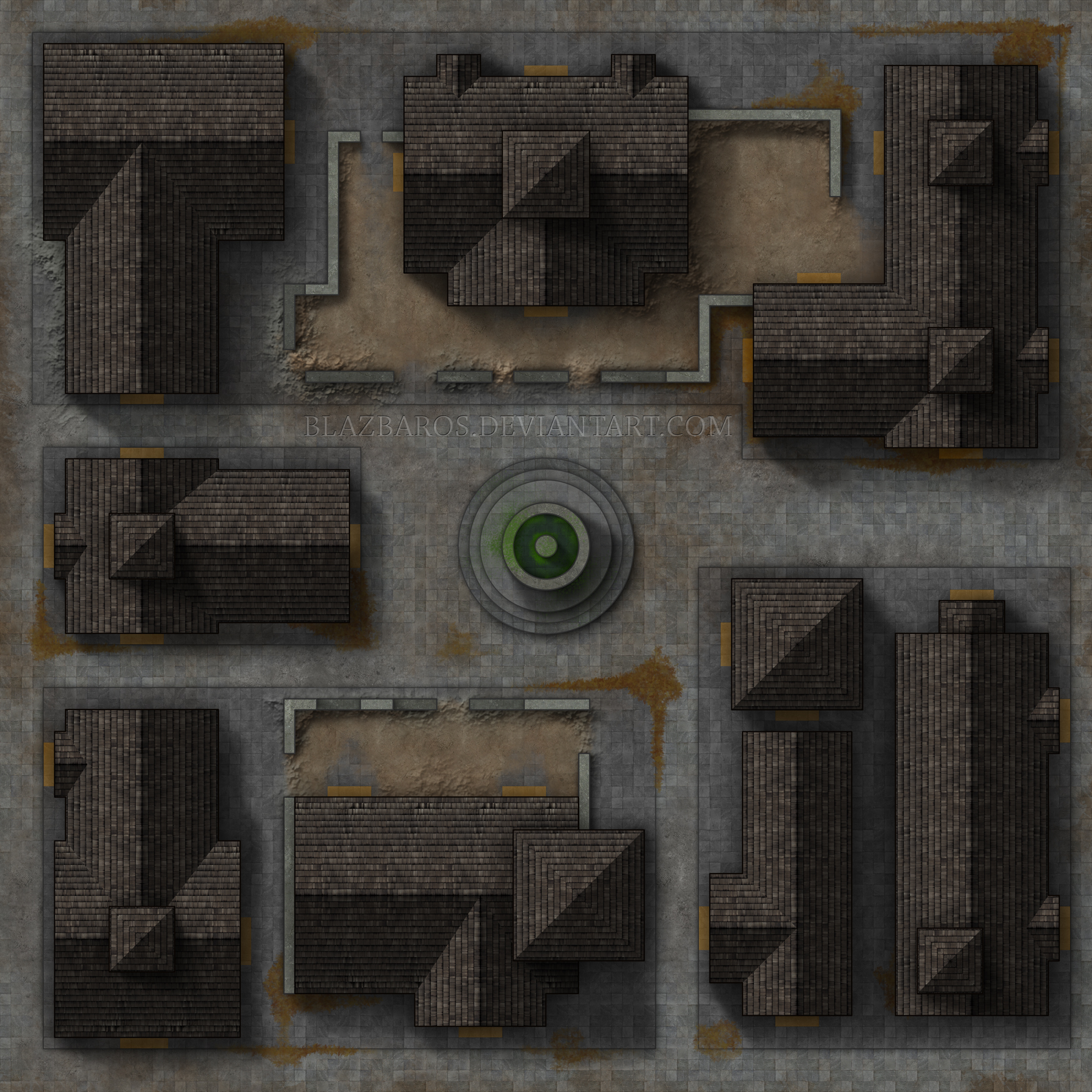 Town Square Map Mordheim Map 1: Town Square by Blazbaros on DeviantArt