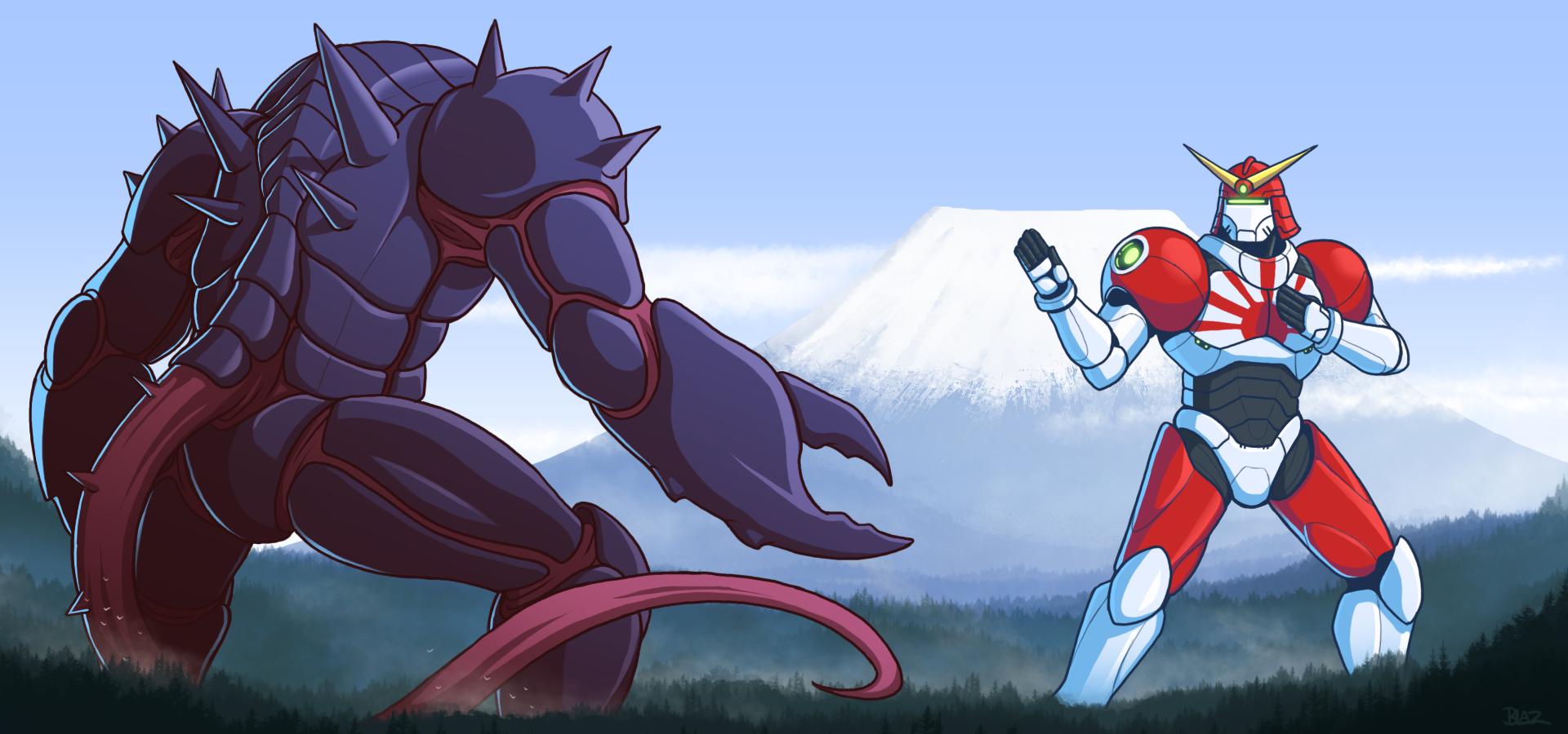 Karkrabadon vs Samurai Swagger by Blazbaros on DeviantArt