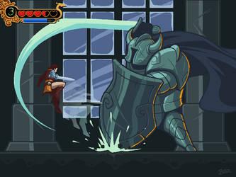 Tyr vs Jotun Knight by Blazbaros