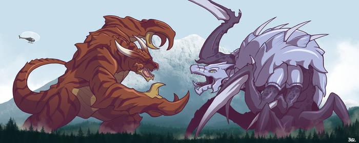 Kaiju Battle at Mount Rainier