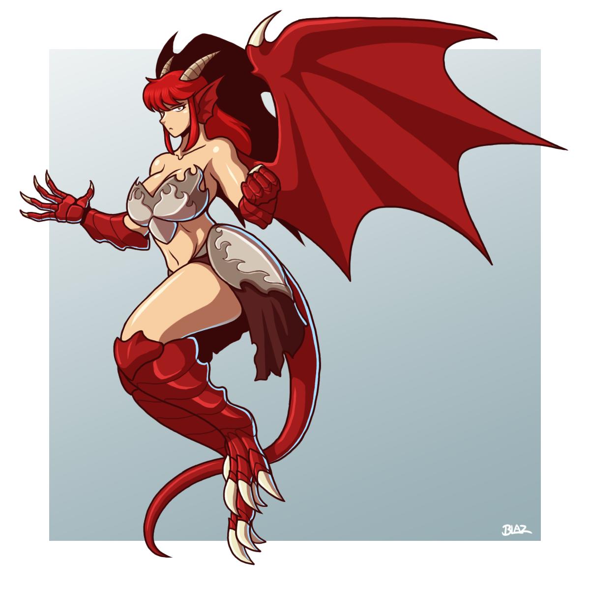 silver the dragongirl by blazbaros on deviantart
