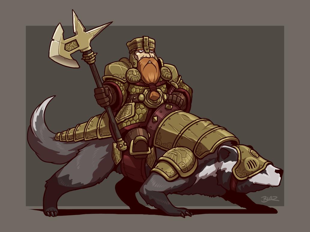 Badger Knight by Blazbaros