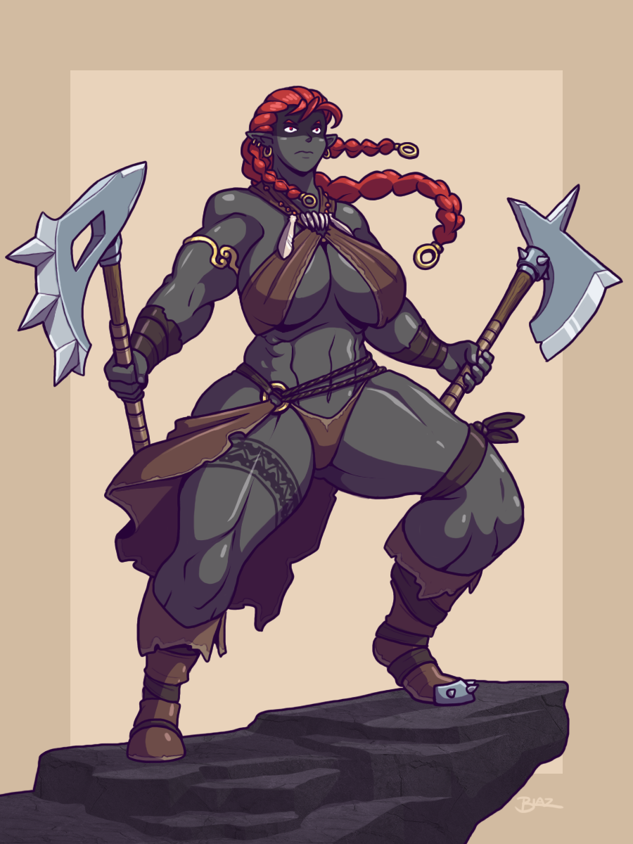 Dark Elf Barbarian By Blazbaros On Deviantart