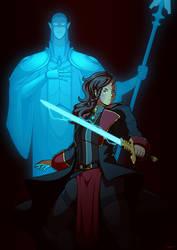 Jesiska and Etherion by Blazbaros