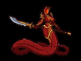 Ember Naga Knight by Blazbaros