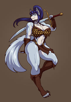 Ice the Barbarian She-Wolf