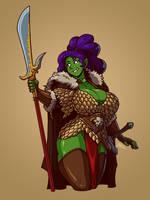 Jade the Barbarian by Blazbaros