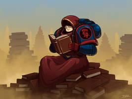 Space Marine Librarian by Blazbaros