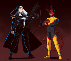 Sister Superior and Cambion by Blazbaros