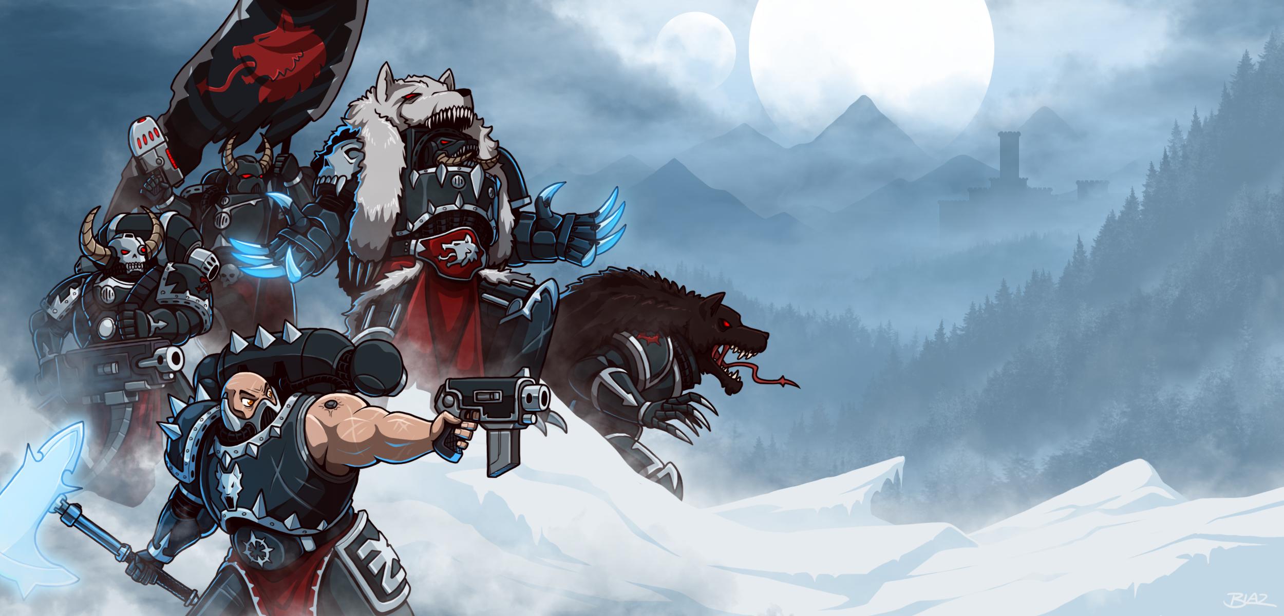 Skyrar's Dark Wolves by Blazbaros