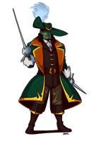 Half-Orc Swashbuckler by Blazbaros