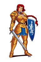 Knight Girl by Blazbaros