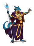 Blue Dragonborn Wizard