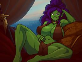 Jade the Babebarian by Blazbaros