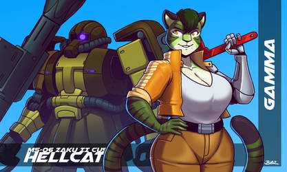 Hellcat and Gamma by Blazbaros