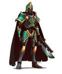 Necron Overlord by Blazbaros