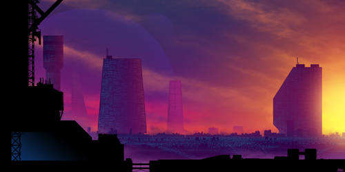 Synthwave Cityscape