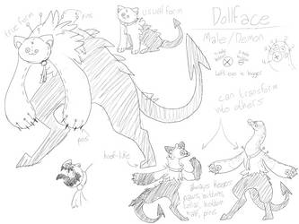 dollface concept sketches by BootlegGreely
