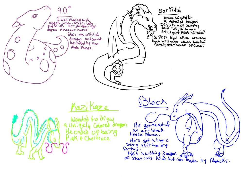 Dragons by Waterfallwolf