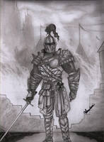 The Knight by Sreehari-Namikaze