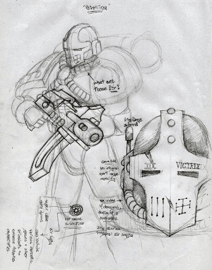 Pre-Heresy Marine Concept 2 by precinctomega