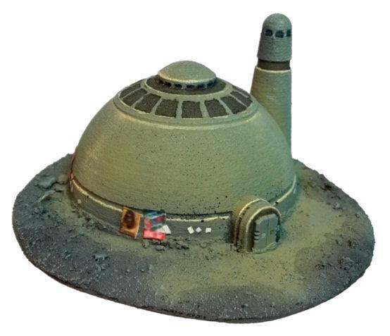 Desert Buildings 1 - Brigade Models 6mm SF by precinctomega
