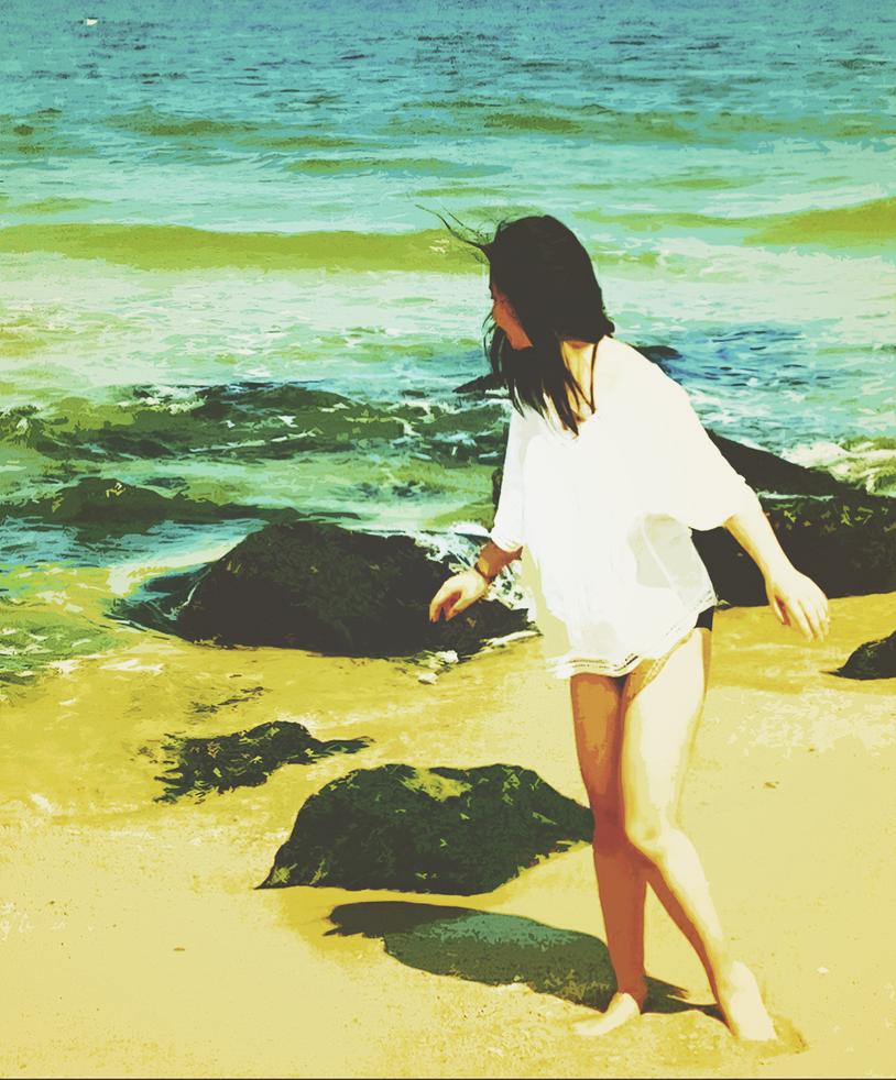 Summer Beach by onesliceorange