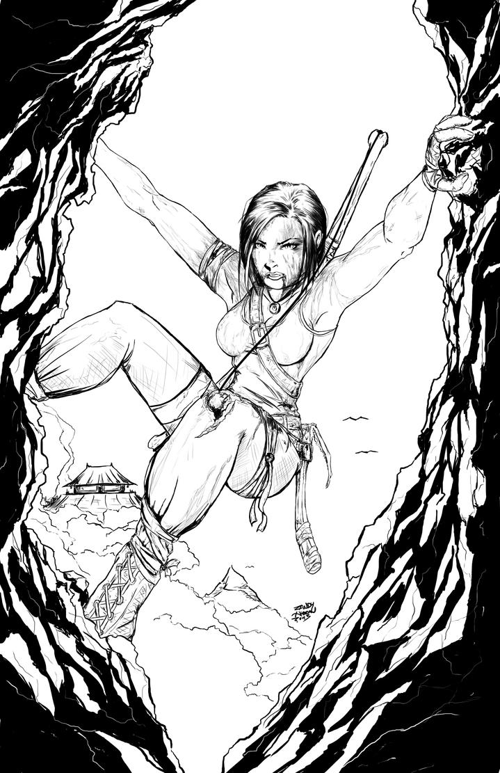 tomb raider tribute by hudsonvisual - Lara Croft Coloring Pages
