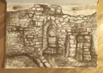 Castle ruin Illustration
