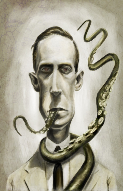 H.P. Lovecraft by markdraws