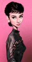Audrey Hepburn by markdraws