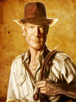 Indiana Jones by markdraws