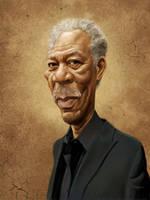 Morgan Freeman by markdraws